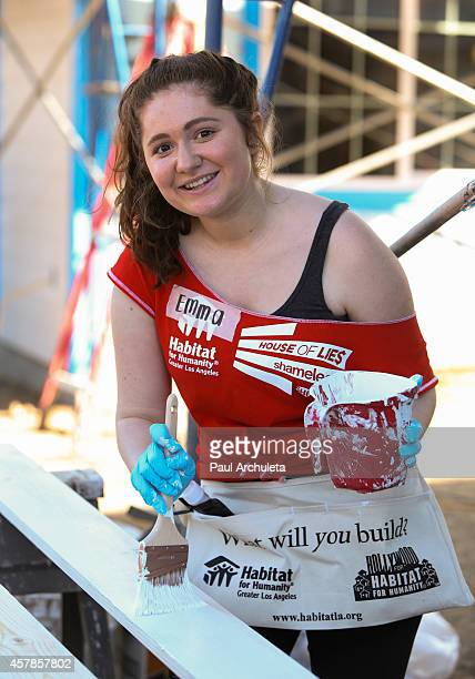 Actress Emma Kenney helps build homes with Habitat For Humanity LA on October 25 2014 in Lynwood California