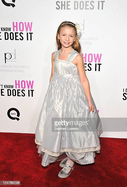 Actress Emma Lyle attends the premiere of The Weinstein Company's I Don't Know How She Does It sponsored by QVC Palladium Jewelry at AMC Lincoln...