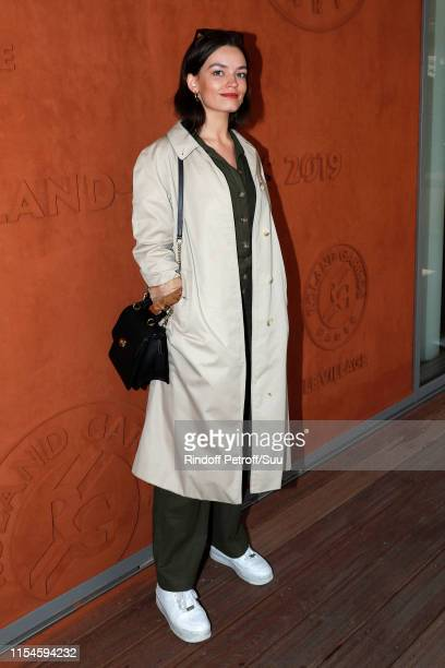 Actress Emma Mackey attends the 2019 French Tennis Open - Day Fourteen at Roland Garros on June 08, 2019 in Paris, France.