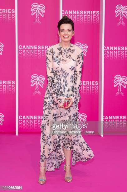 Actress Emma Mackey attends the 2nd Canneseries International Series Festival Opening Ceremony on April 05 2019 in Cannes France