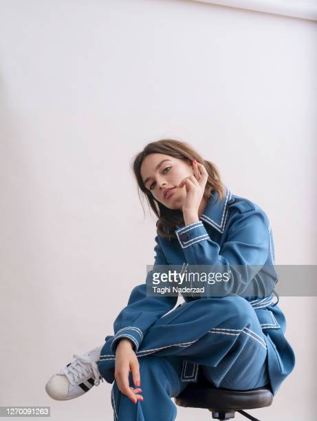Actress Emma Mackey is photographed for French Glamour Magazine on October 16, 2019 in London, England. PUBLISHED IMAGE.