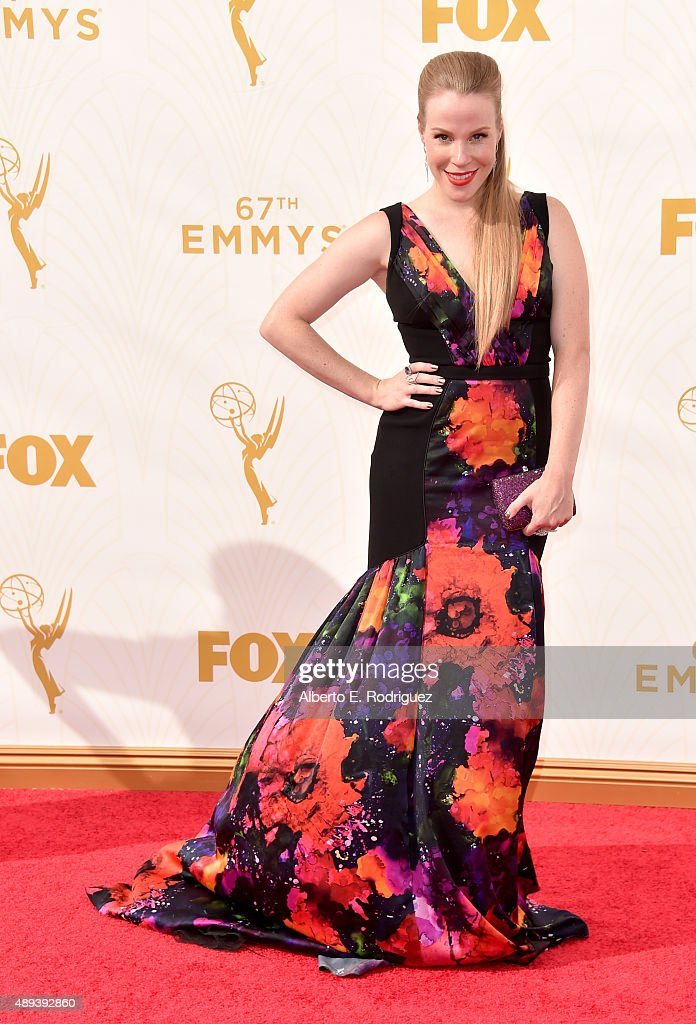 Actress Emma Myles attends the 67th Emmy Awards at Microsoft Theater on September 20, 2015 in Los Angeles, California. 25720_001