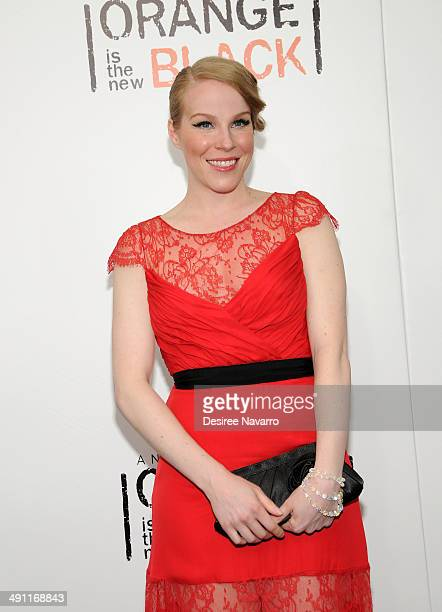Actress Emma Myles attends the Orange Is The New Black season two premiere at Ziegfeld Theater on May 15 2014 in New York City