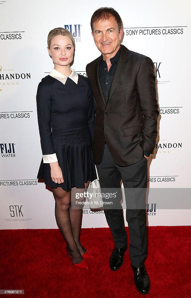 Actress Emma Rigby (L) and producer Edward Walson attend the Sony Pictures Classics' 2014 Oscar Dinner at the STK Steakhouse on March 1, 2014 in Los Angeles, California.