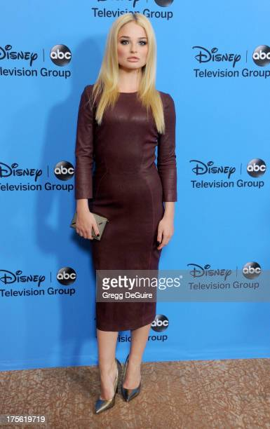 Actress Emma Rigby arrives at the 2013 Disney/ABC Television Critics Association's summer press tour party at The Beverly Hilton Hotel on August 4...
