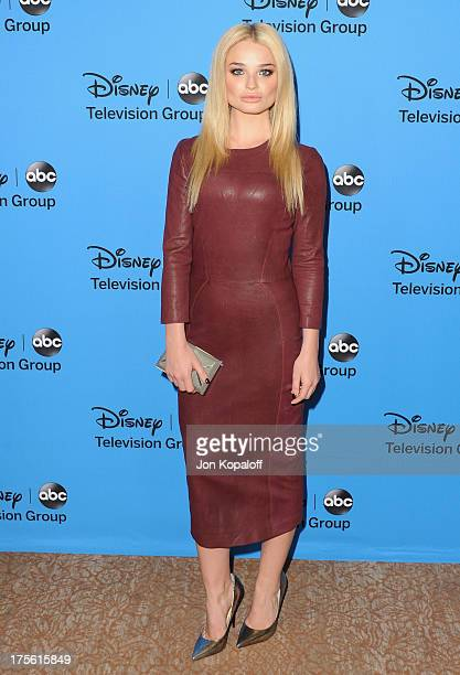 Actress Emma Rigby arrives at the Disney/ABC Party 2013 Television Critics Association's Summer Press Tour at The Beverly Hilton Hotel on August 4...