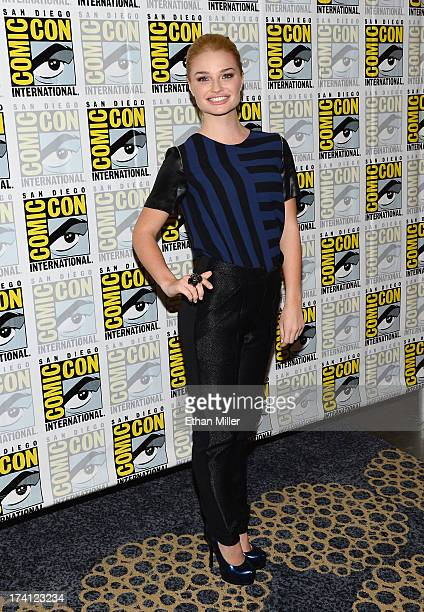 Actress Emma Rigby attends the Once Upon a Time in Wonderland press line during ComicCon International 2013 at the Hilton San Diego Bayfront Hotel on...