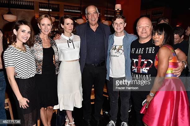 Actress Emma Roberts 20th Century Fox Television CoChairman Dana Walden actress Sarah Paulson 20th Century Fox Television CoChairman Gary Numan...