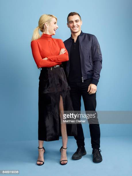 Actress Emma Roberts and actor Dave Franco from 'Nerve' are photographed for Entertainment Weekly Magazine on July 21 2016 at Comic Con in the Hard...
