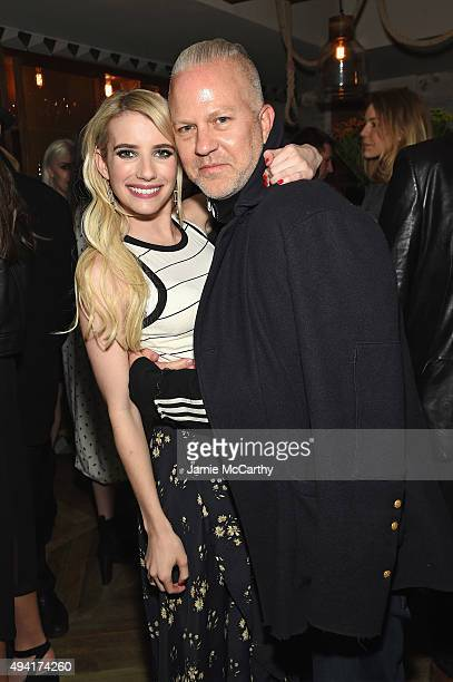 Actress Emma Roberts and creator of 'American Horror Story' Ryan Murphy attend as Teen Vogue and Aerie celebrate Emma Roberts November Cover at 58...