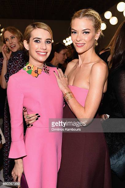 Actress Emma Roberts and Jaime King attend the Valentino Sala Bianca 945 Event on December 10 2014 in New York City