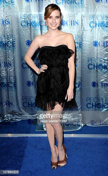 Actress Emma Roberts arrives at the 2011 People's Choice Awards at Nokia Theatre LA Live on January 5 2011 in Los Angeles California