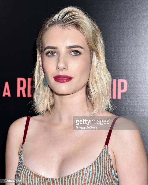 Actress Emma Roberts arrives at the In a Relationship Premiere at The London Hotel on October 30 2018 in West Hollywood California