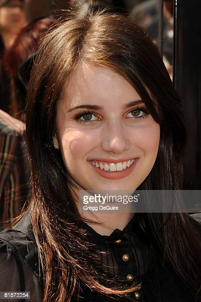 Actress Emma Roberts arrives at the Kit Kittredge An American Girl World Premiere on June 14 2008 at The Grove in Los Angeles California