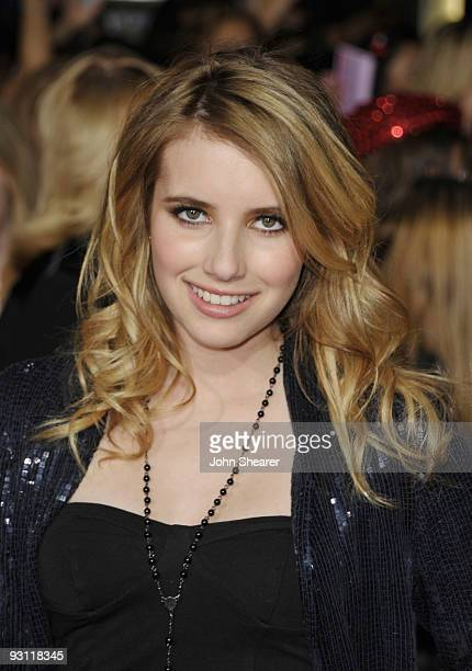 Actress Emma Roberts arrives at The Twilight Saga New Moon premiere held at the Mann Village Theatre on November 16 2009 in Westwood California