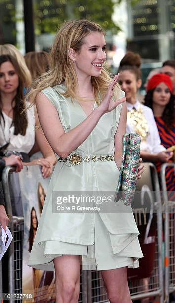 Actress Emma Roberts arrives at the UK premiere of 'Sex And The City 2' at Odeon Leicester Square on May 27, 2010 in London, England.