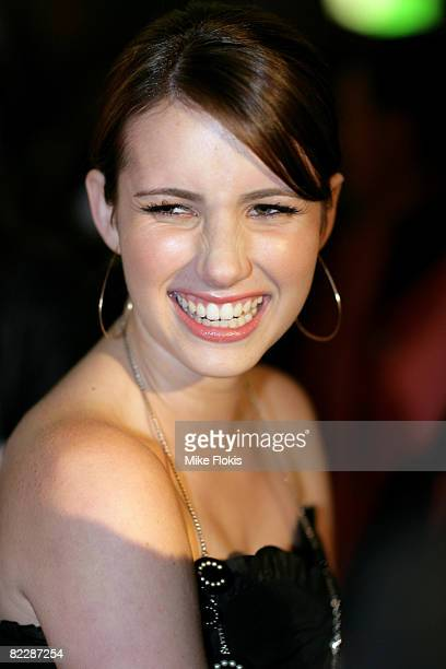 Actress Emma Roberts arrives for the third annual Dolly Teen Choice Awards at Luna Park on August 13 2008 in Sydney Australia