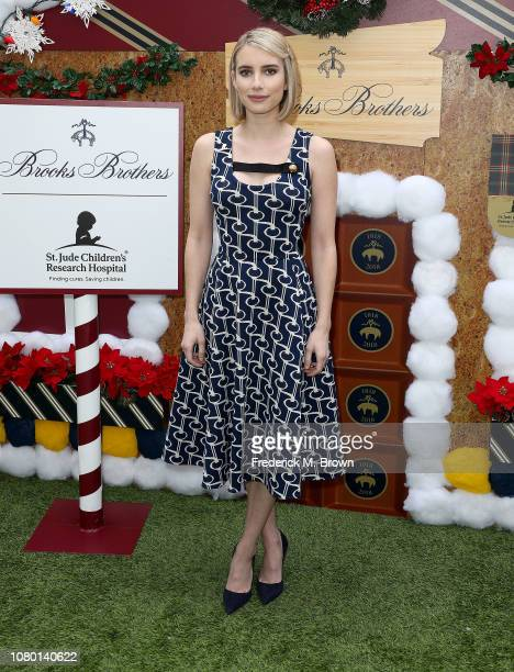Actress Emma Roberts attends Brooks Brothers Host Annual Holiday Celebration in Los Angeles to Benefit St Jude at the Beverly Wilshire Four Seasons...