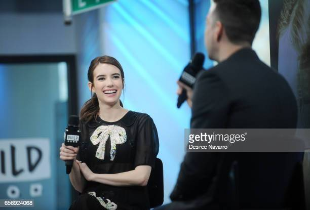 Actress Emma Roberts attends Build Series to discuss 'The Blackcoat's Daughter' at Build Studio on March 23 2017 in New York City