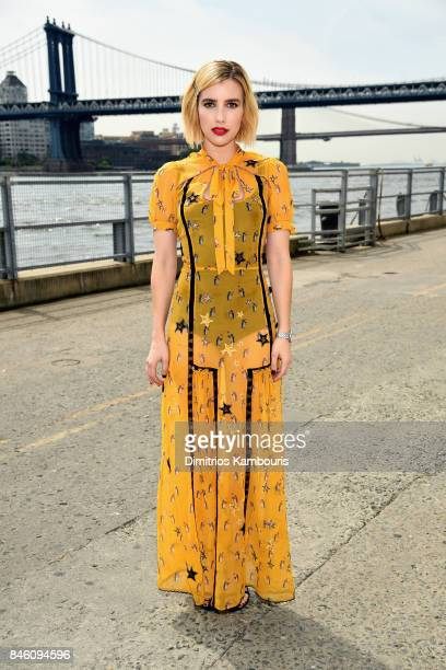 Actress Emma Roberts attends Coach Spring 2018 fashion show during New York Fashion Week at Basketball City Pier 36 South Street on September 12 2017...