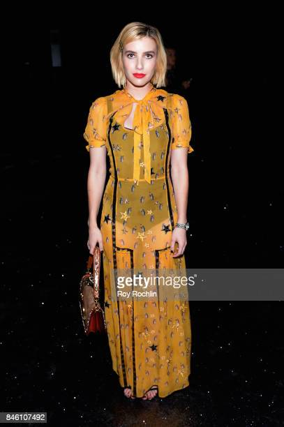 Actress Emma Roberts attends Coach Spring 2019 fashion show during New York Fashion Week at Basketball City Pier 36 South Street on September 12 2017...
