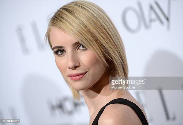 Actress Emma Roberts attends ELLE's Annual Women in Television Celebration on January 22 2014 in West Hollywood California