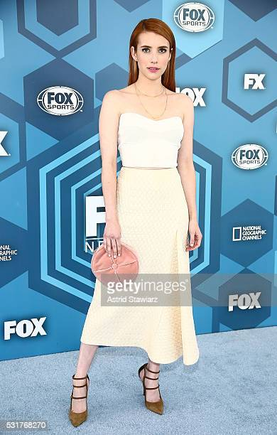 Actress Emma Roberts attends FOX 2016 Upfront Arrivals at Wollman Rink Central Park on May 16 2016 in New York City