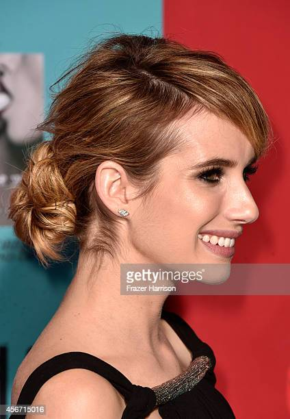 Actress Emma Roberts attends FX's American Horror Story Freak Show premiere screening at TCL Chinese Theatre on October 5 2014 in Hollywood California