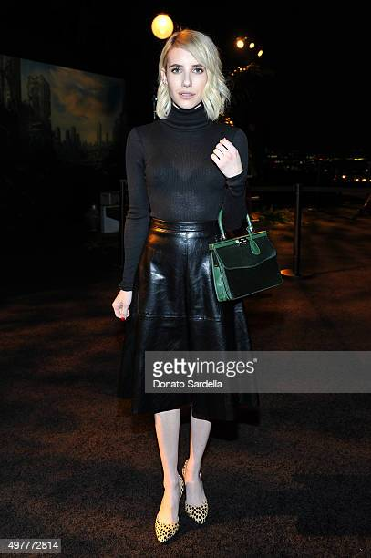 Actress Emma Roberts attends Louis XIII Celebration of 100 Years The Movie You Will Never See starring John Malkovich at a private residence on...