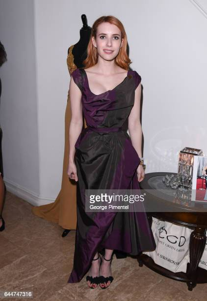 Actress Emma Roberts attends Red Carpet Green Dress PreOscar Celebration at a private residence on February 23 2017 in Los Angeles California