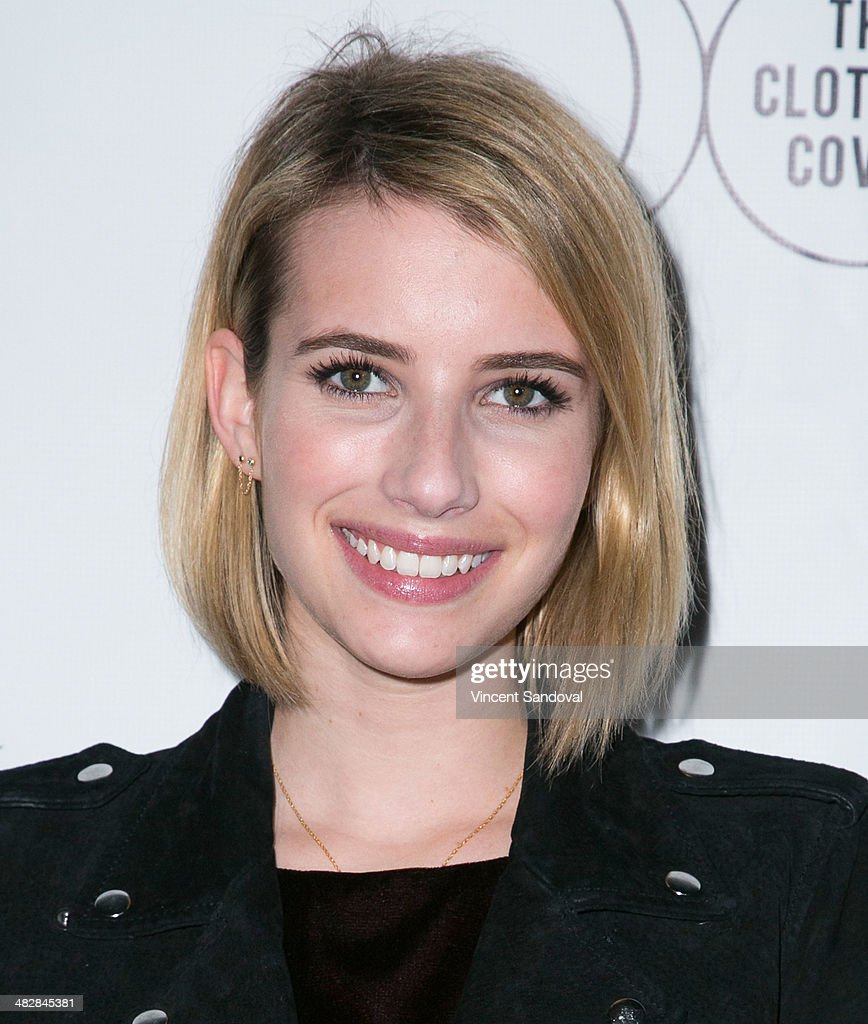 Actress Emma Roberts attends Tallulah Willis and Mallory Llewellyn celebrate the launch of their new fashion blog 'The Clothing Coven' at Elodie K. on April 4, 2014 in West Hollywood, California.