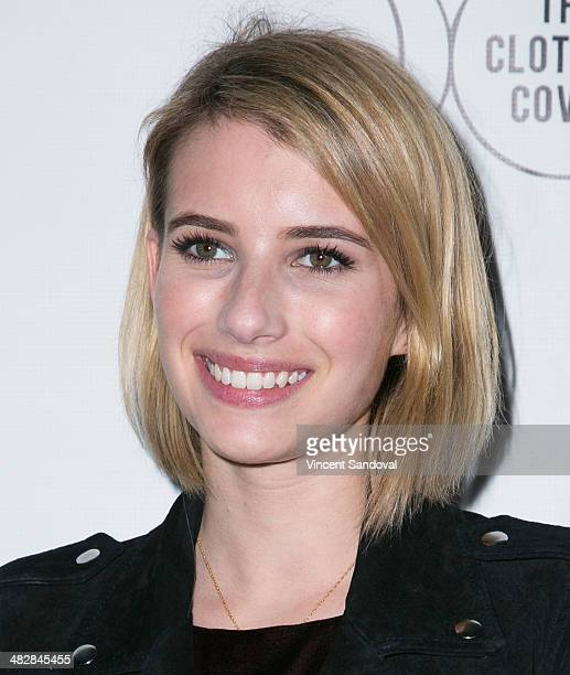 Actress Emma Roberts attends Tallulah Willis and Mallory Llewellyn celebrate the launch of their new fashion blog 'The Clothing Coven' at Elodie K on...