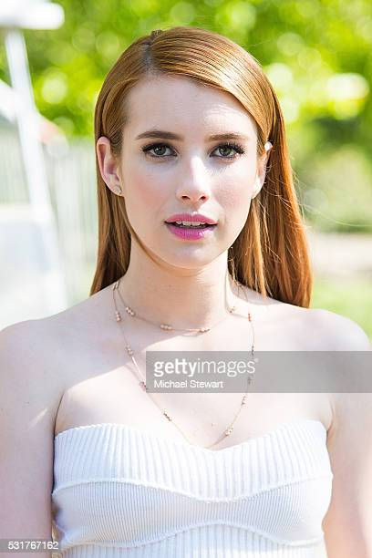 Actress Emma Roberts attends the 2016 FOX Network Upfront at Wollman Rink Central Park on May 16 2016 in New York City