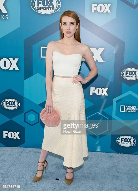 Actress Emma Roberts attends the 2016 Fox Upfront at Wollman Rink Central Park on May 16 2016 in New York City
