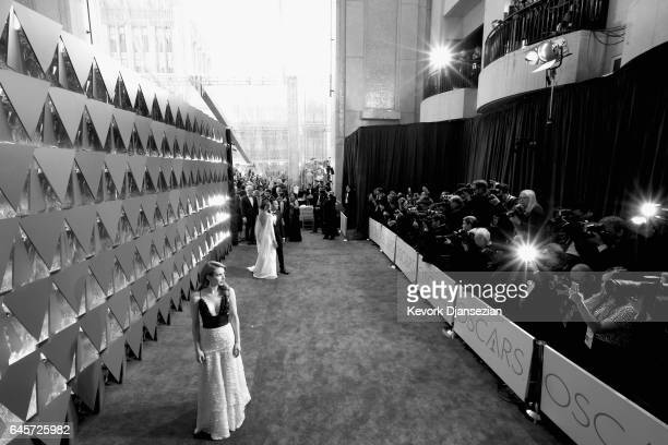 Actress Emma Roberts attends the 89th Annual Academy Awards at Hollywood Highland Center on February 26 2017 in Hollywood California