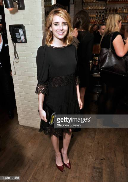 Actress Emma Roberts attends the after party for a special screening of 'Hick hosted by The Cinema Society and Phase 4 Films at Ken and Cook on May 3...