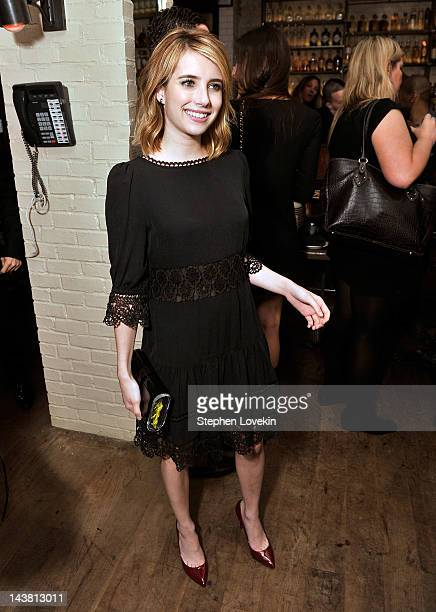Actress Emma Roberts attends the after party for a special screening of 'Hick hosted by The Cinema Society and Phase 4 Films at Ken and Cook on May...