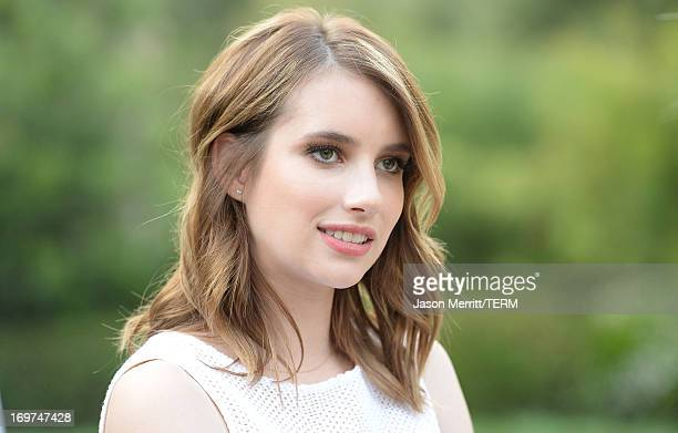 """Actress Emma Roberts attends the CHANEL Dinner For NRDC """"A Celebration Of Art, Nature And Technology"""" held at a private residence on May 31, 2013 in..."""