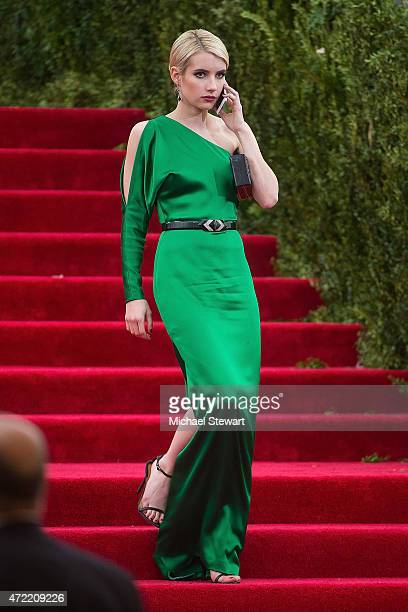Actress Emma Roberts attends the 'China Through The Looking Glass' Costume Institute Benefit Gala at Metropolitan Museum of Art on May 4 2015 in New...