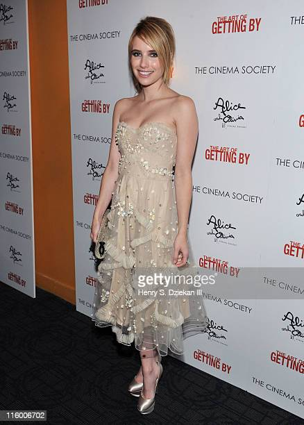 Actress Emma Roberts attends the Cinema Society with AliceOlivia screening of 'The Art of Getting By' at Landmark's Sunshine Cinema on June 13 2011...