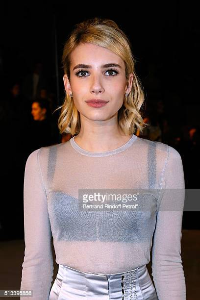 Actress Emma Roberts attends the HM Studio show as part of the Paris Fashion Week Womenswear Fall/Winter 2016/2017 on March 2 2016 in Paris France