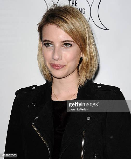 Actress Emma Roberts attends the launch of 'The Clothing Coven' at Elodie K on April 4 2014 in West Hollywood California
