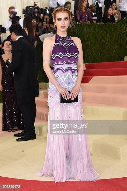 Actress Emma Roberts attends the 'Manus x Machina Fashion In An Age Of Technology' Costume Institute Gala at Metropolitan Museum of Art on May 2 2016...