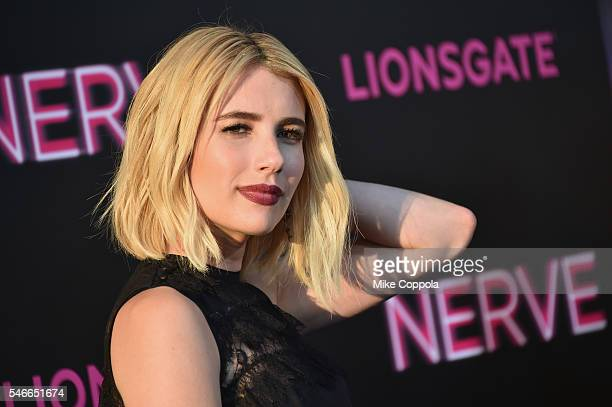 Actress Emma Roberts attends the 'Nerve' New York Premiere at SVA Theater on July 12 2016 in New York City