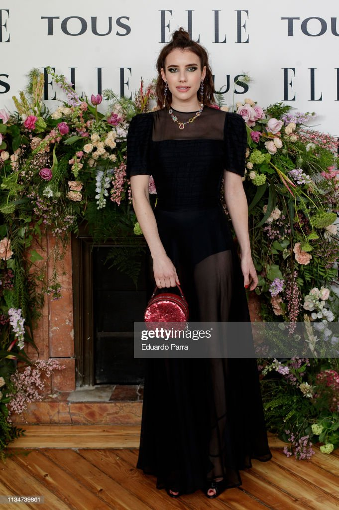 Elle Tribute To Emma Roberts - Photocall : News Photo