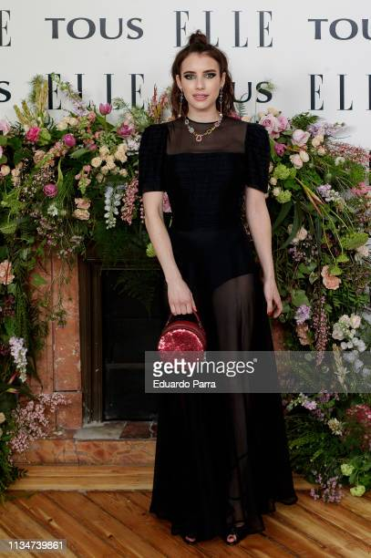 Actress Emma Roberts attends the photocall of 'Elle Tribute To Emma Roberts' at Palacio Santa Barbara on April 03 2019 in Madrid Spain