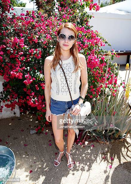 Actress Emma Roberts attends The Retreat Palm Springs 2016 on April 15 2016 in Palm Springs California