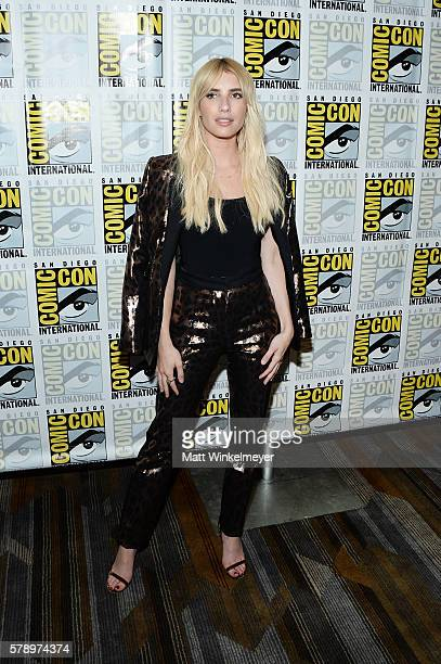 Actress Emma Roberts attends the Scream Queens press line during ComicCon International at Hilton Bayfront on July 22 2016 in San Diego California