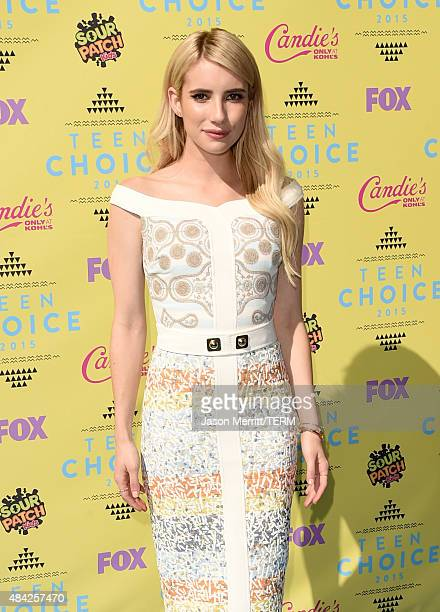 Actress Emma Roberts attends the Teen Choice Awards 2015 at the USC Galen Center on August 16 2015 in Los Angeles California