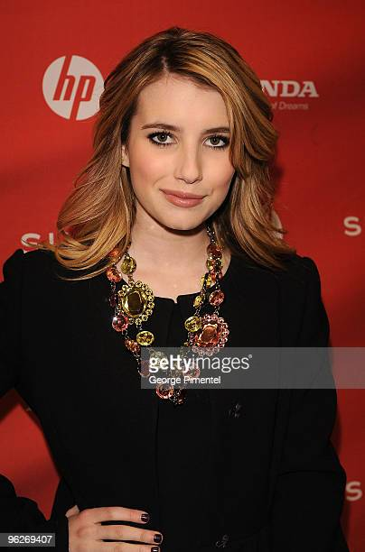 Actress Emma Roberts attends the Twelve Premiere at the Eccles Theatre during the 2010 Sundance Film Festival on January 29 2010 in Park City Utah